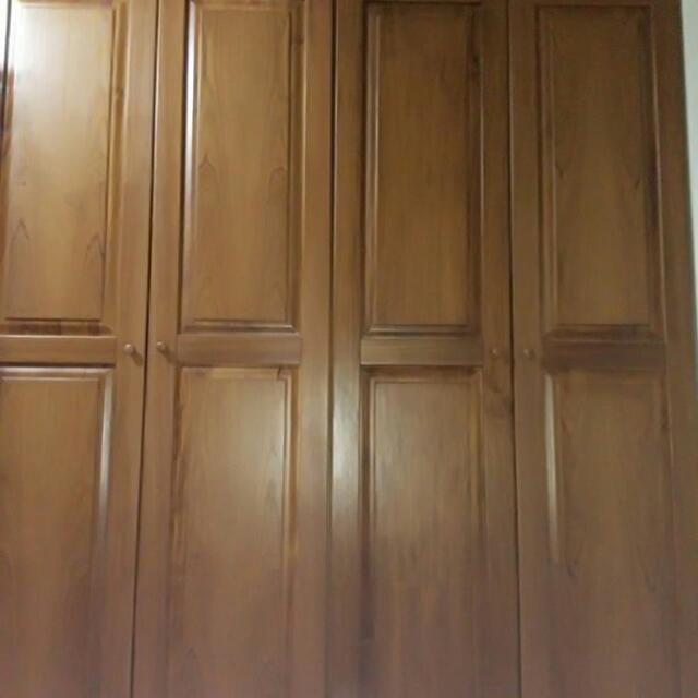 詩肯柚木衣櫥兩筒