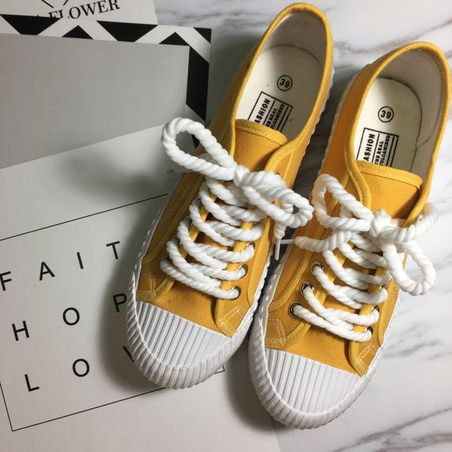 現貨/黃色餅乾鞋❤