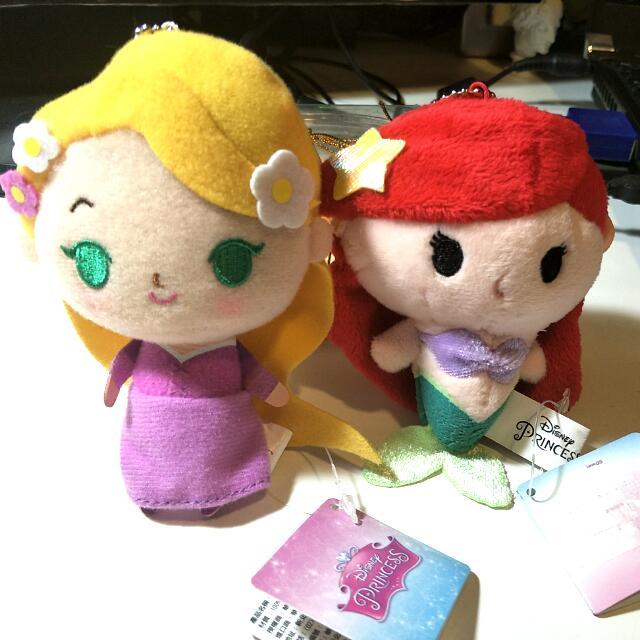 迪世尼正版 公主 玩偶,兩個不分賣