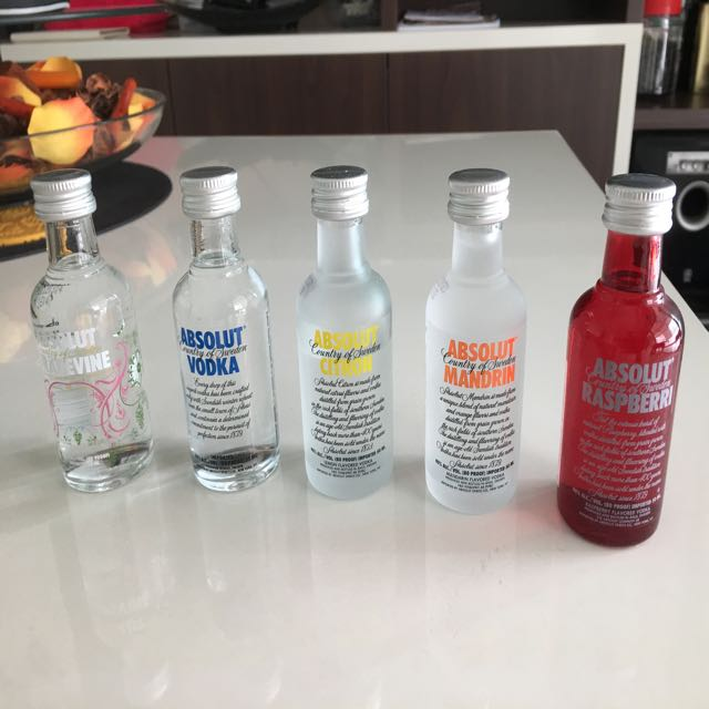 ... Absolut Vodka Miniature 50 ml Bottle Vintage & Collectibles Vintage Collectibles on Carousell