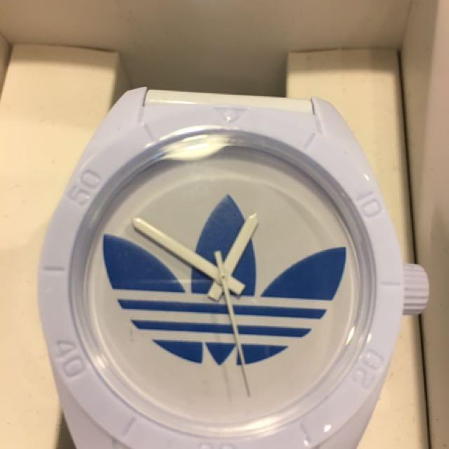 adidas 三葉草指針式運動手錶