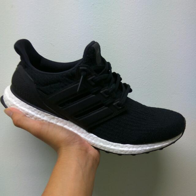 online store e9fc5 35d1e Adidas Ultra Boost 3.0 Black Leather Cage LTD, Men s Fashion, Footwear on  Carousell