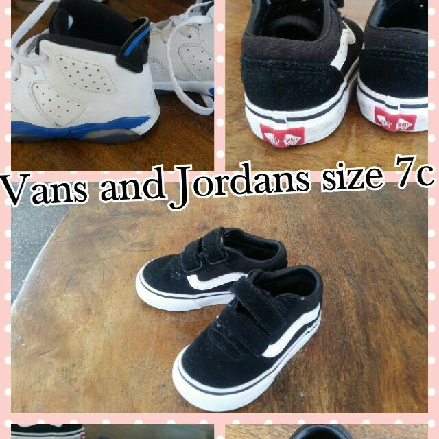 Air JORDANS 7c AND VANS sz 5c