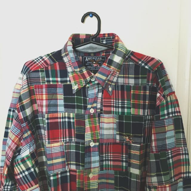 American Living Plaid Button Down Shirt