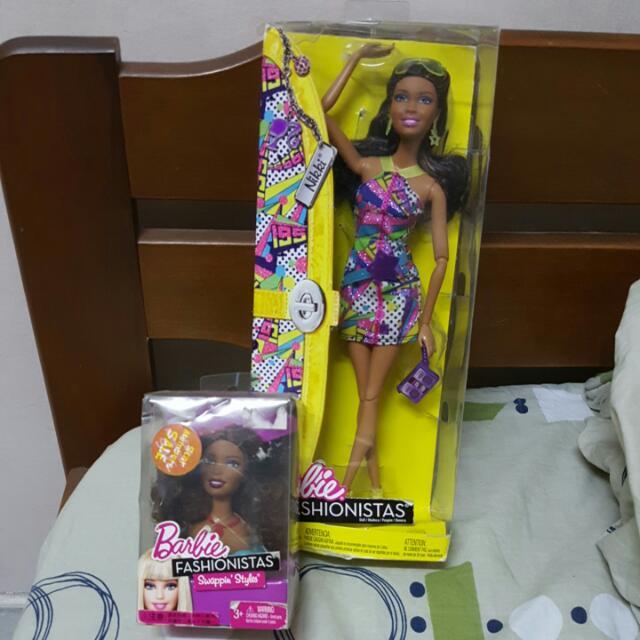 Barbie Fashionistas Nikki & Swappin Head Style