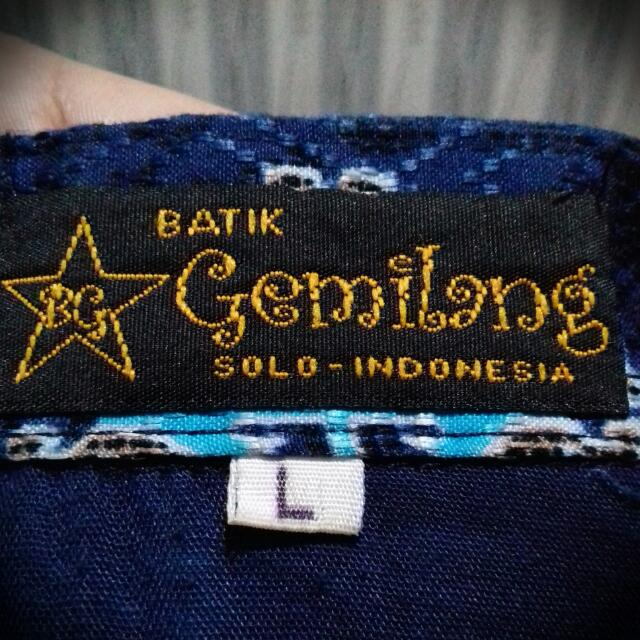 Batik Solo Long Sleeve + Free Ongkir (Jabodetabek)
