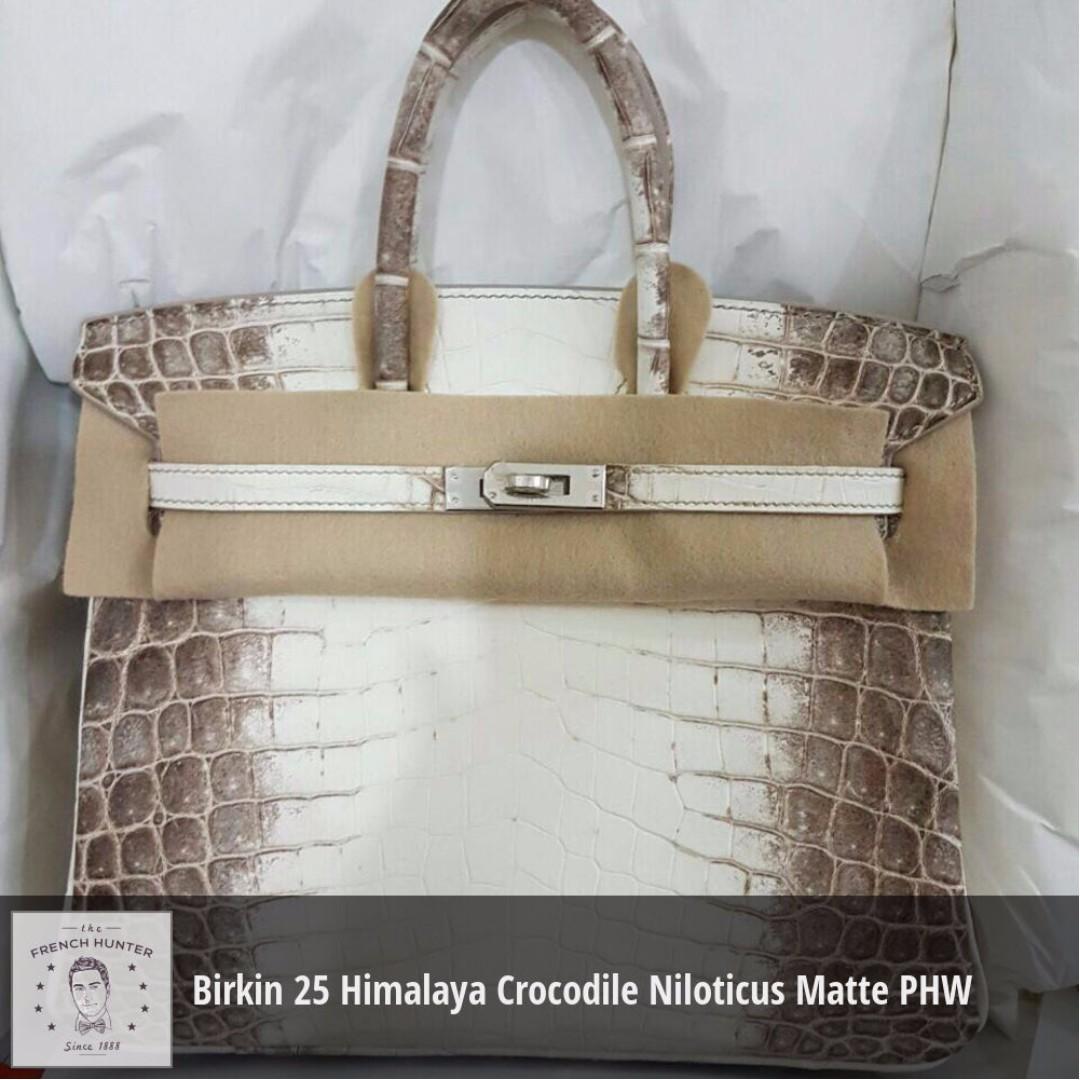 79272a15a5 inexpensive birkin bag white hermès birkin 25 blanc himalaya 4b43b 8a7cc   canada bnib hermès birkin 25 himalaya crocodile niloticus matte palladium  hardware ...