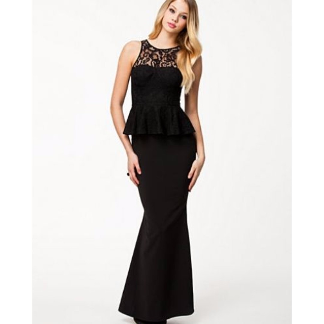 Jarlo sienna maxi dress with lace hem inserts