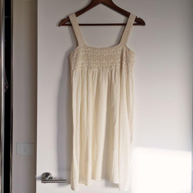 Bohemian White Summer Dress
