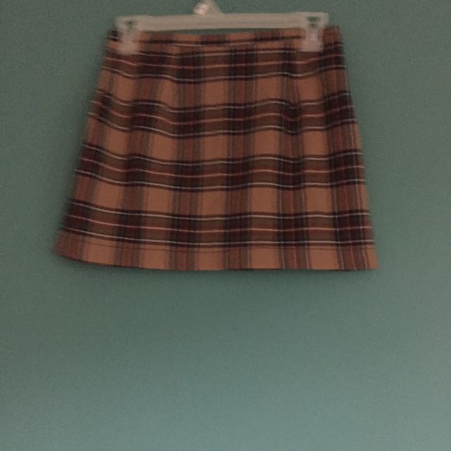Brandy Melville Plaid Mini Skirt