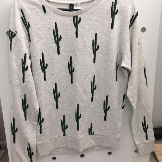 Cactus Sweater/Jumper - Size XS
