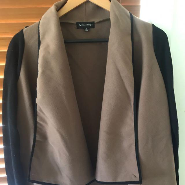 Tan And Black Waterfall Coat