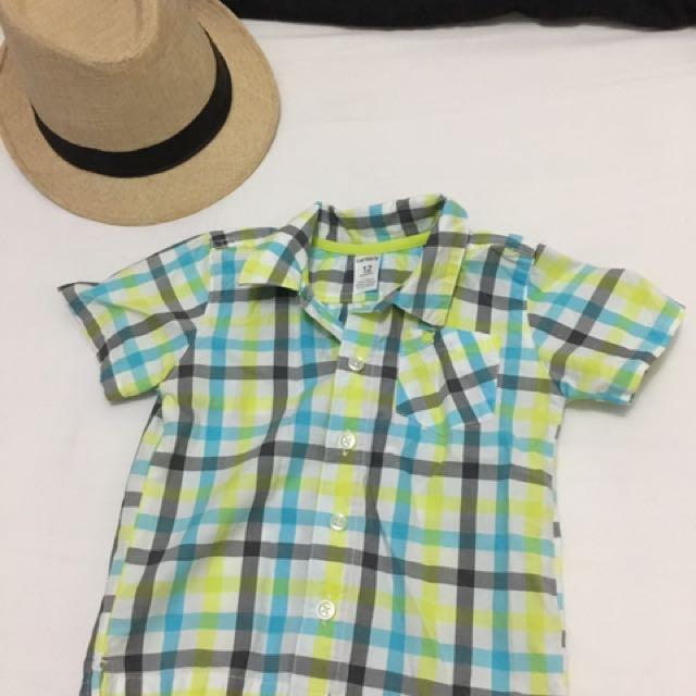 Carter's Plaid Short Sleeve Polo