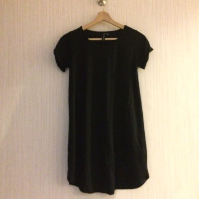 Cotton On Black Dress Short Sleeve - Terusan Hitam