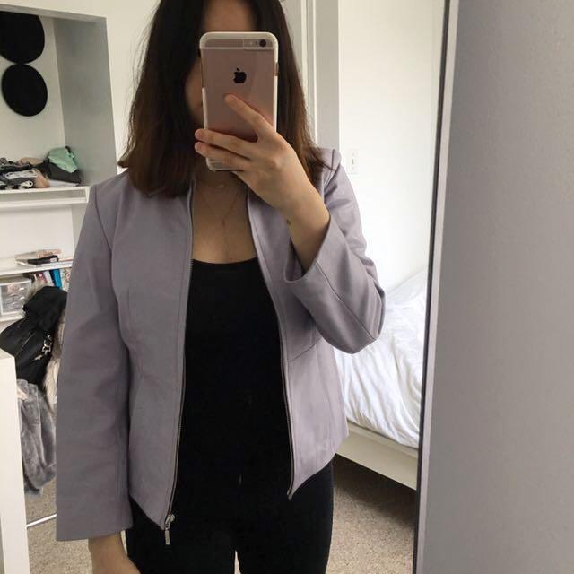 Danier Purple Leather Jacket