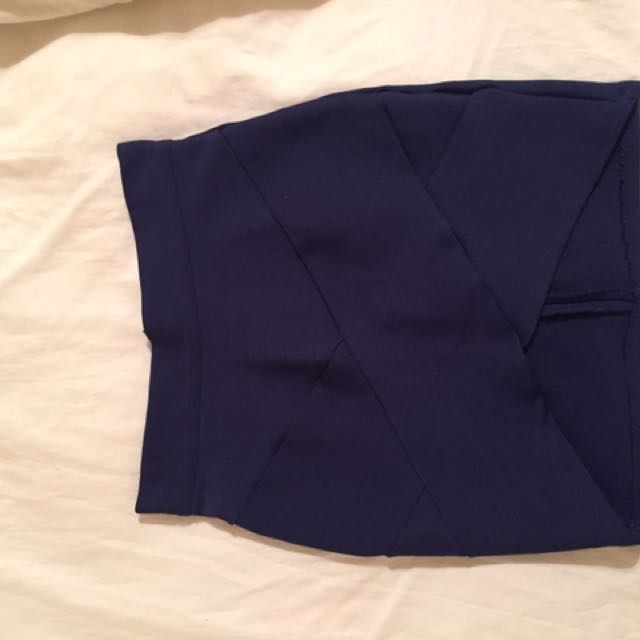 Dark Blue Bandage Skirt