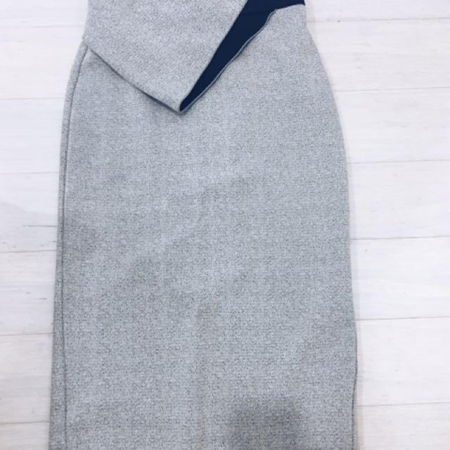 Dion Lee Grey Pencil Skirt