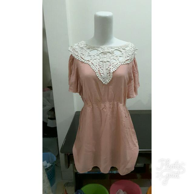 Dusty Pink Lacey Blouse
