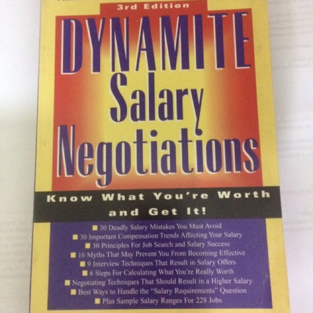Dynamite Of Salary Negotiations