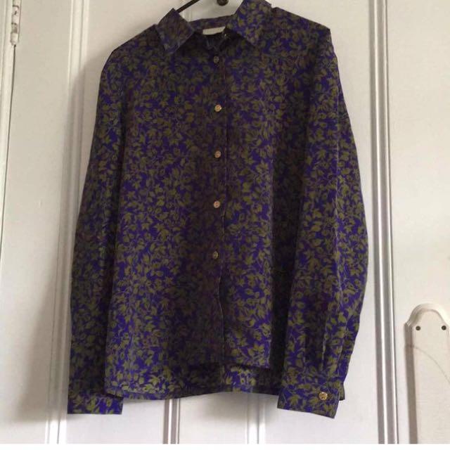 Floral Vintage Shirt Size 10