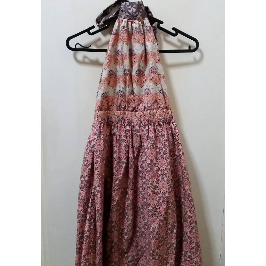 Folded and Hung halter dress