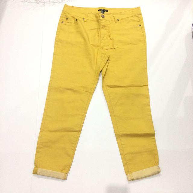 Forever 21 Mustard Pants