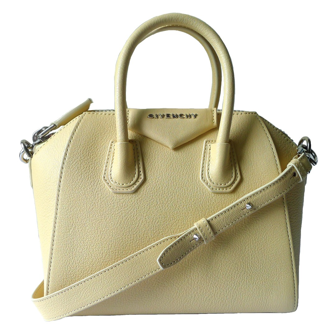 Givenchy Pale Yellow Mini Antigona c6162593229b5