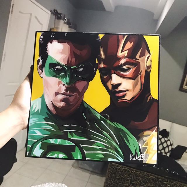 Green Lantern And The Flash Popart