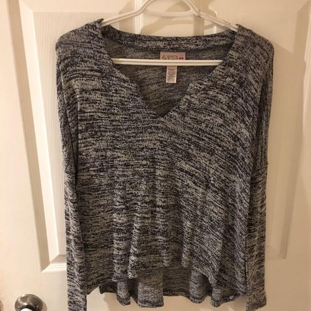 Grey Knit Top