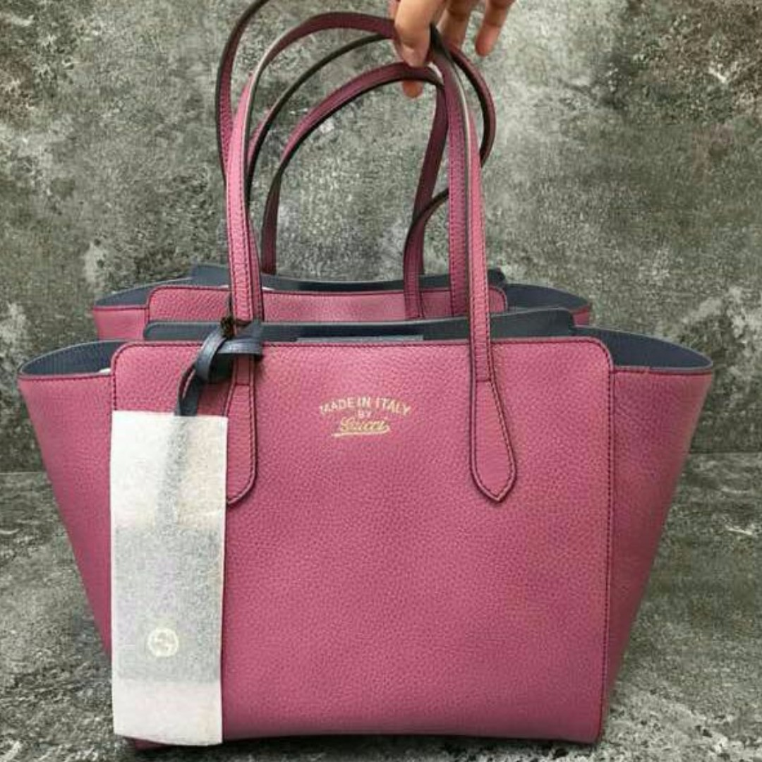 d13ac39a444 Gucci swing medium leather tote