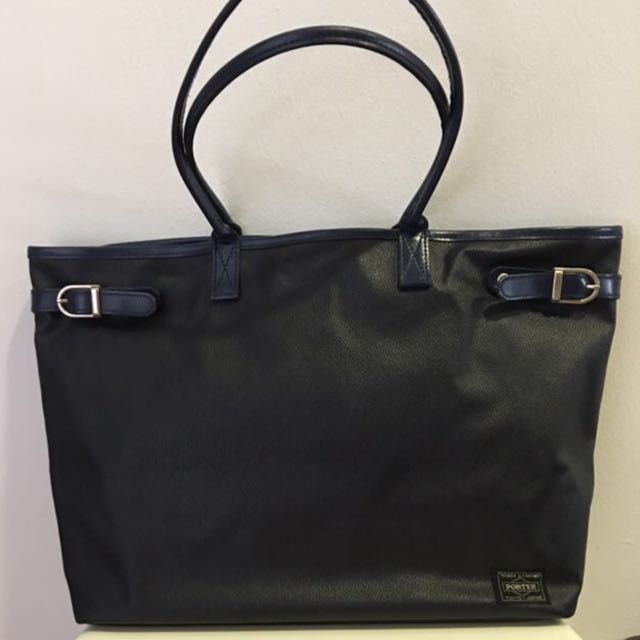 Head Porter Leather Tote Bag