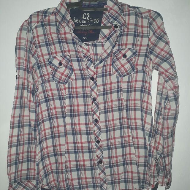 Hem Kemeja Blouse Tshirt Top Brand C2 KOTAK KOTAK