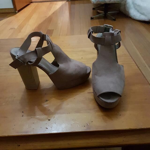 high heel shoes..