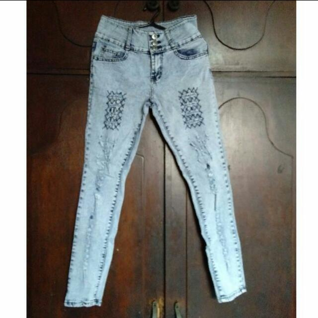High Waist Skinny Pants ( repriced )