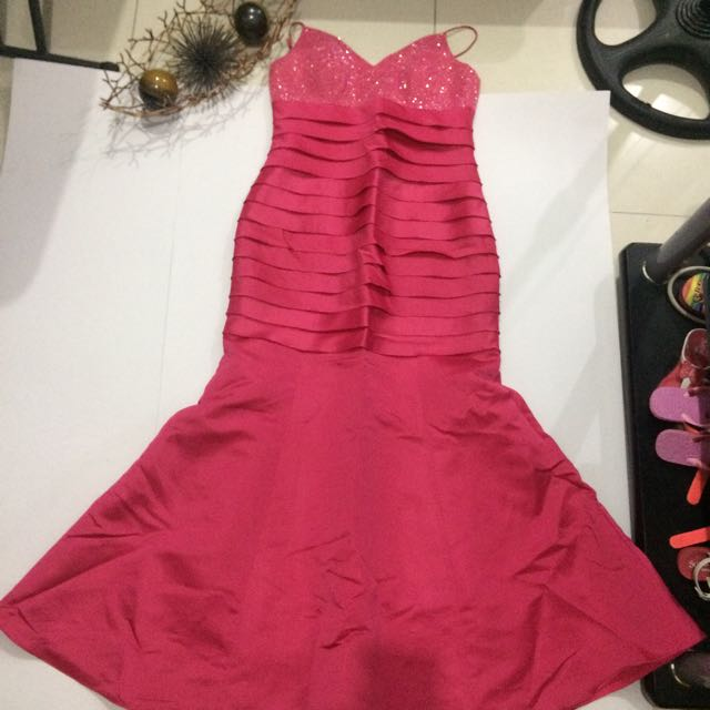 Hot Pink Mermaid Gown