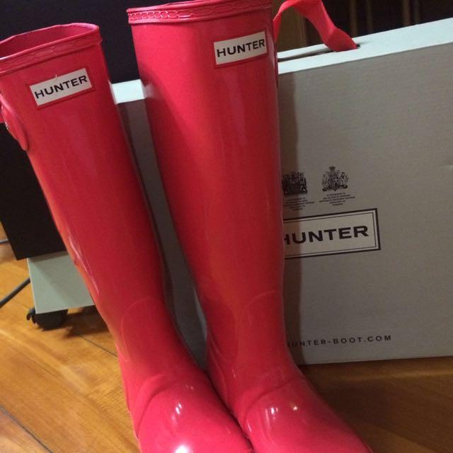 Hunter Rain Boots (bright Coral)