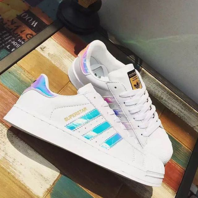 be18c1610fa INSTOCK  ADIDAS Superstar Classic White Holographic Iridescent ...