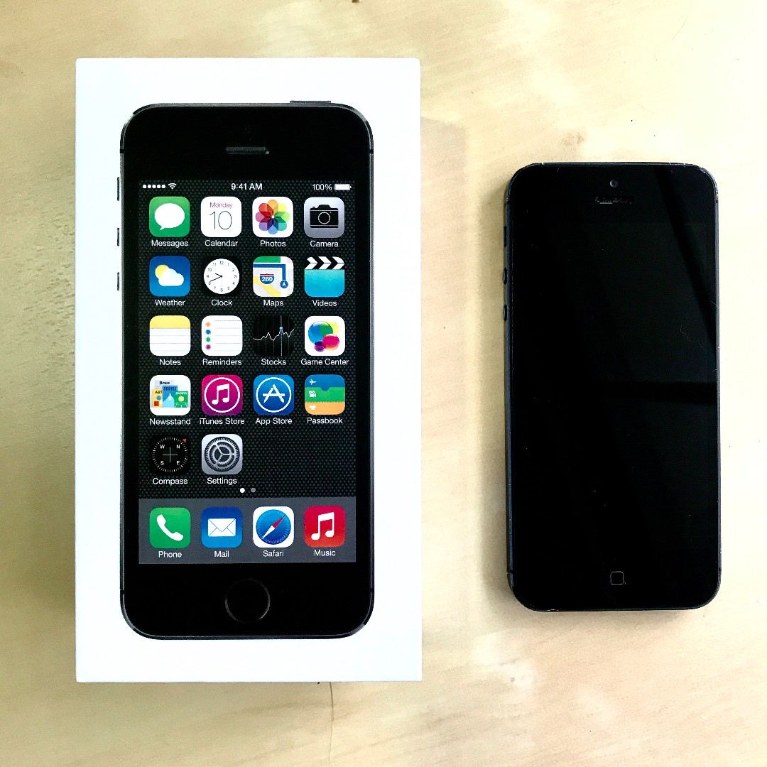 iPhone 5s 16G 黑色 狀況佳 前後無損傷 配備齊全 全新傳輸線 台北可面交