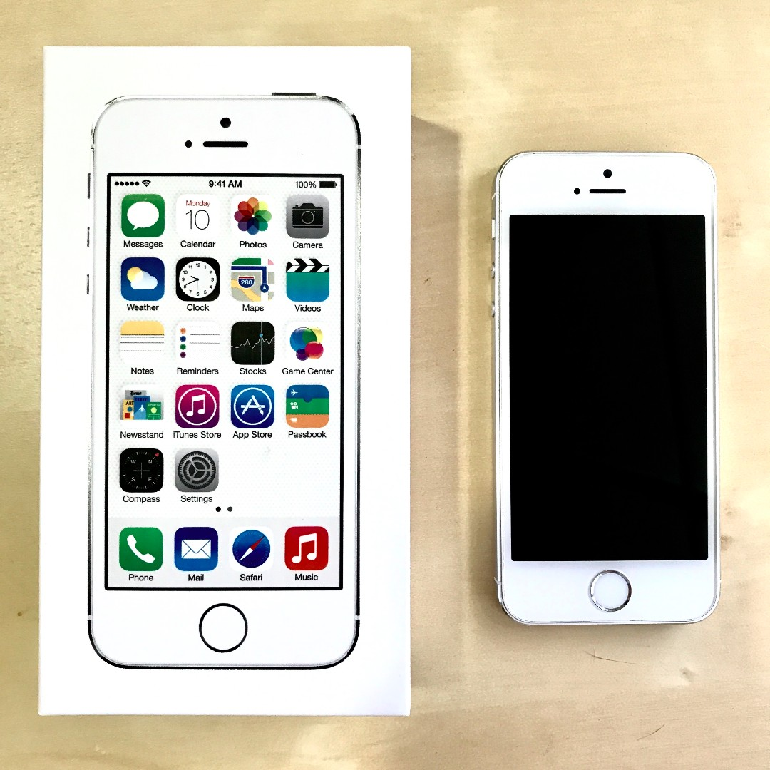 iPhone 5s 16G 銀色 狀況佳 前後無損傷 配備齊 全新 台北可面交