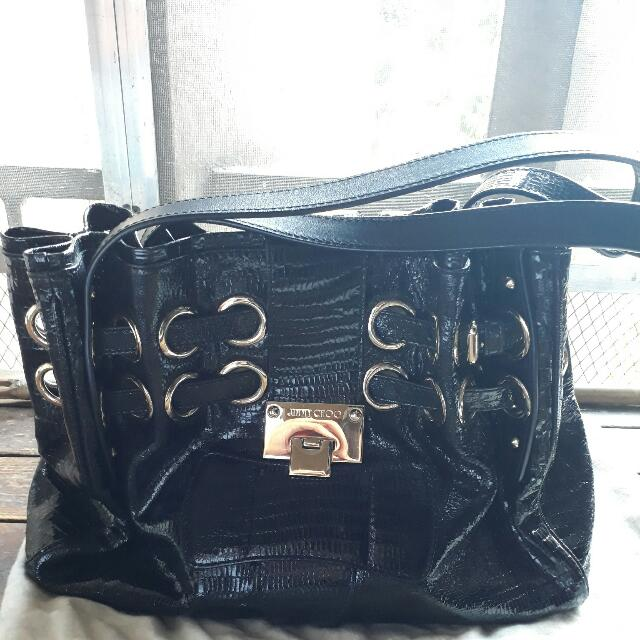 Jimmy Choo London (black hand bag)