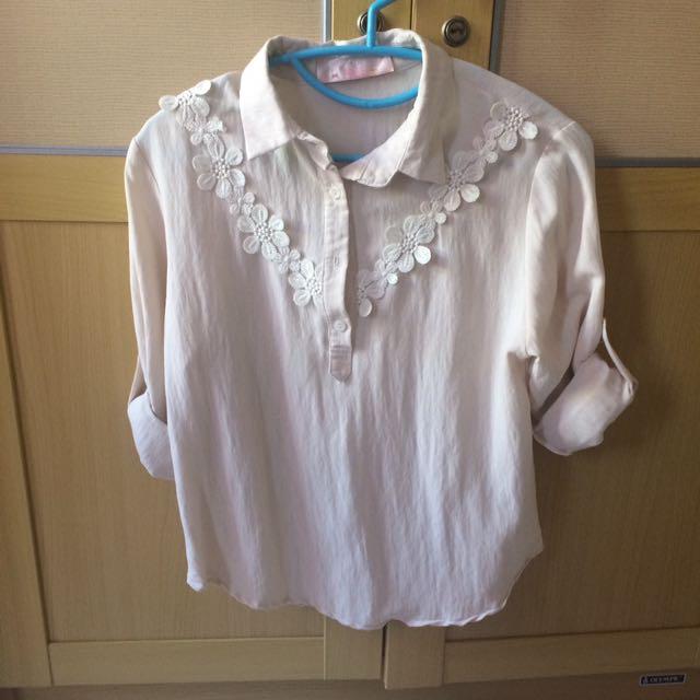 Jrep Cream Shirt ( Kemeja )