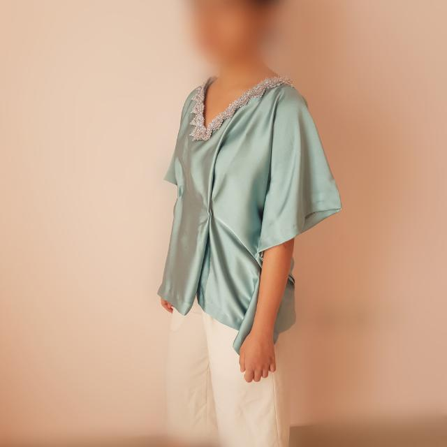kaftan satin top premium