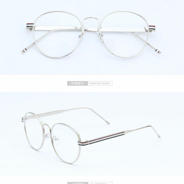 Korean Retro Round Glasses And 2 Free Pairs