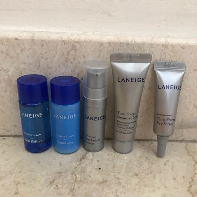 LANEIGE Perfect Renew & Time Freeze Trial Set, Health & Beauty, Bath
