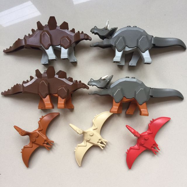 Lego Dino Dinosaurs Lot Stegosaurus Triceratops Pterodactyl