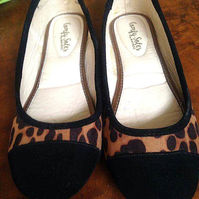 Leopard Print Doll Shoes