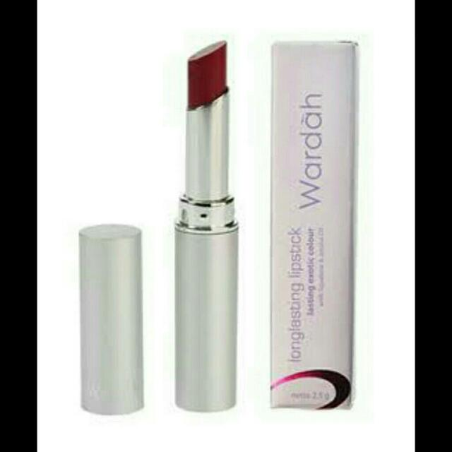 Lipstick Wardah Long Lasting Cherry Glam No. 11, Kesehatan & Kecantikan, Rias Wajah