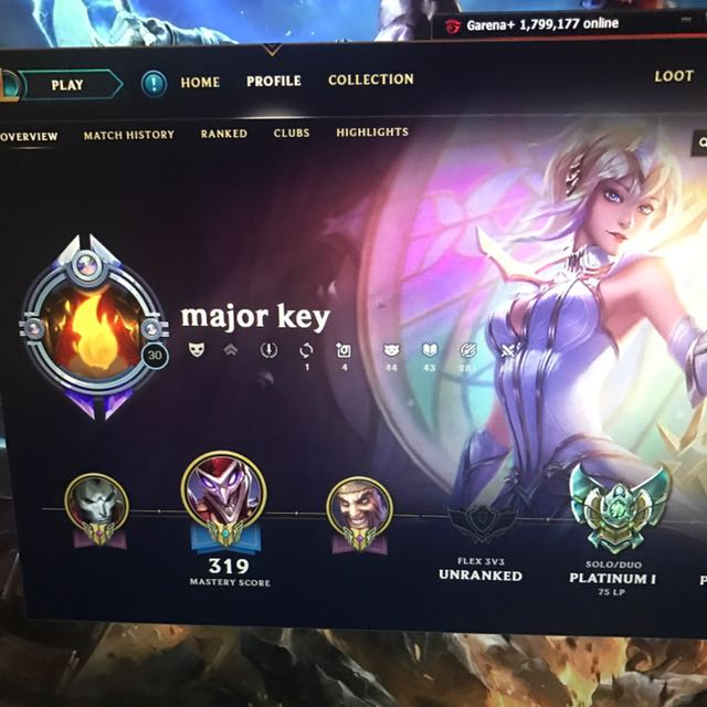 LoL Garena Plat 1 account, Toys & Games, Video Gaming, Video Games on  Carousell