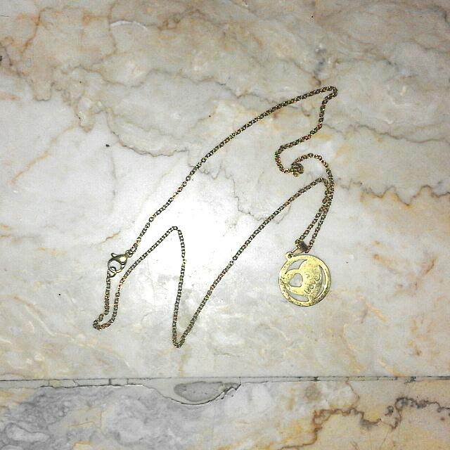 Love Stainless Gold Necklace