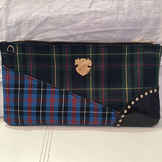 Make Up Bag Tartan Style